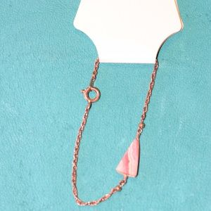 Chain with Pink Stone Bracelet